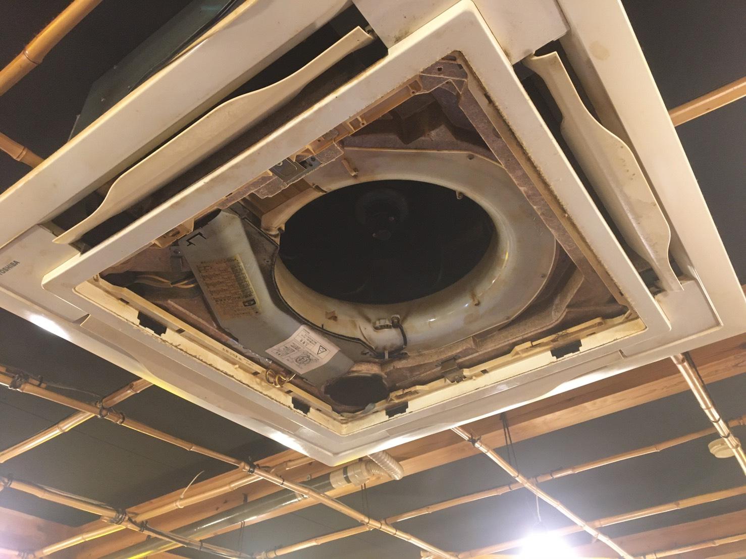 天井カセット型4方向 エアコンクリーニング№25